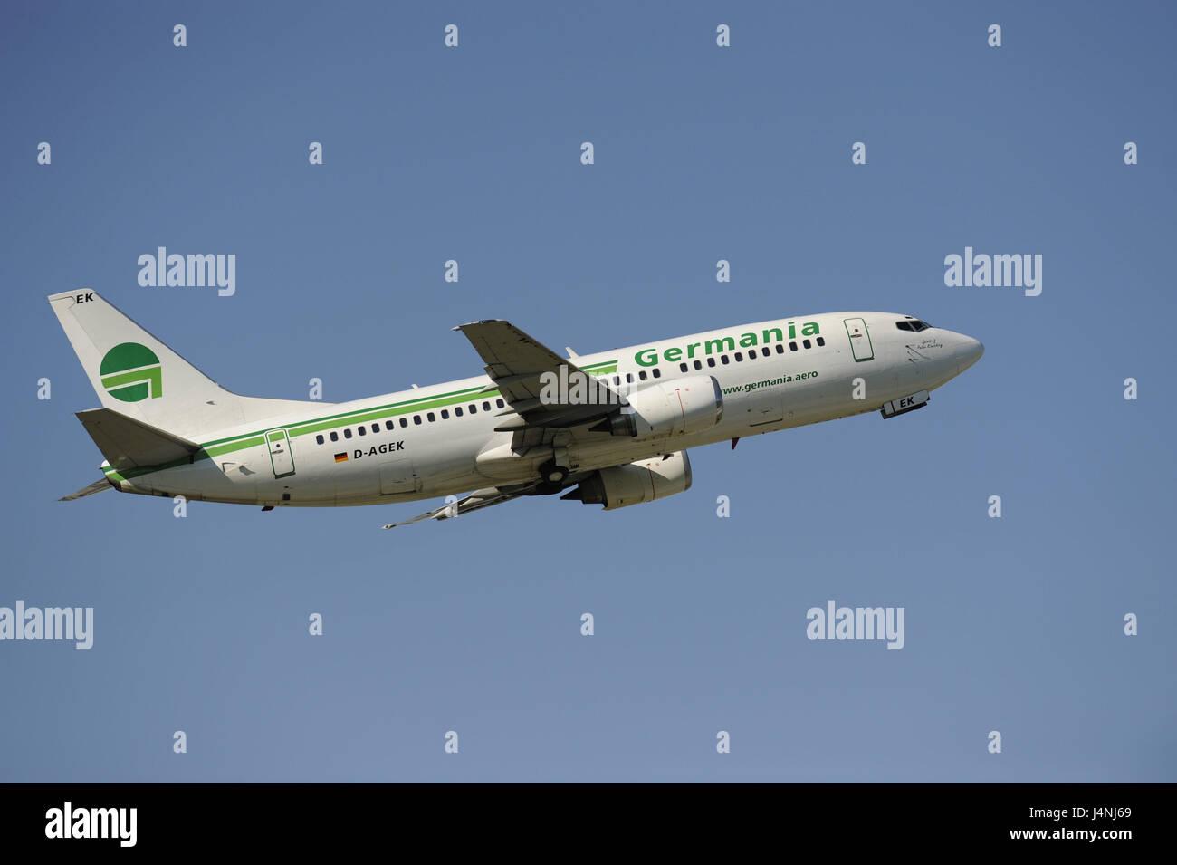 Aeroplano, compagnia aerea, Germanio, start, Immagini Stock