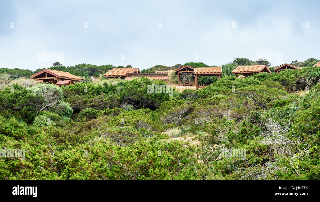 Verande per la ricreazione nella foresta sulla costa di Ayia Napa Foto Stock