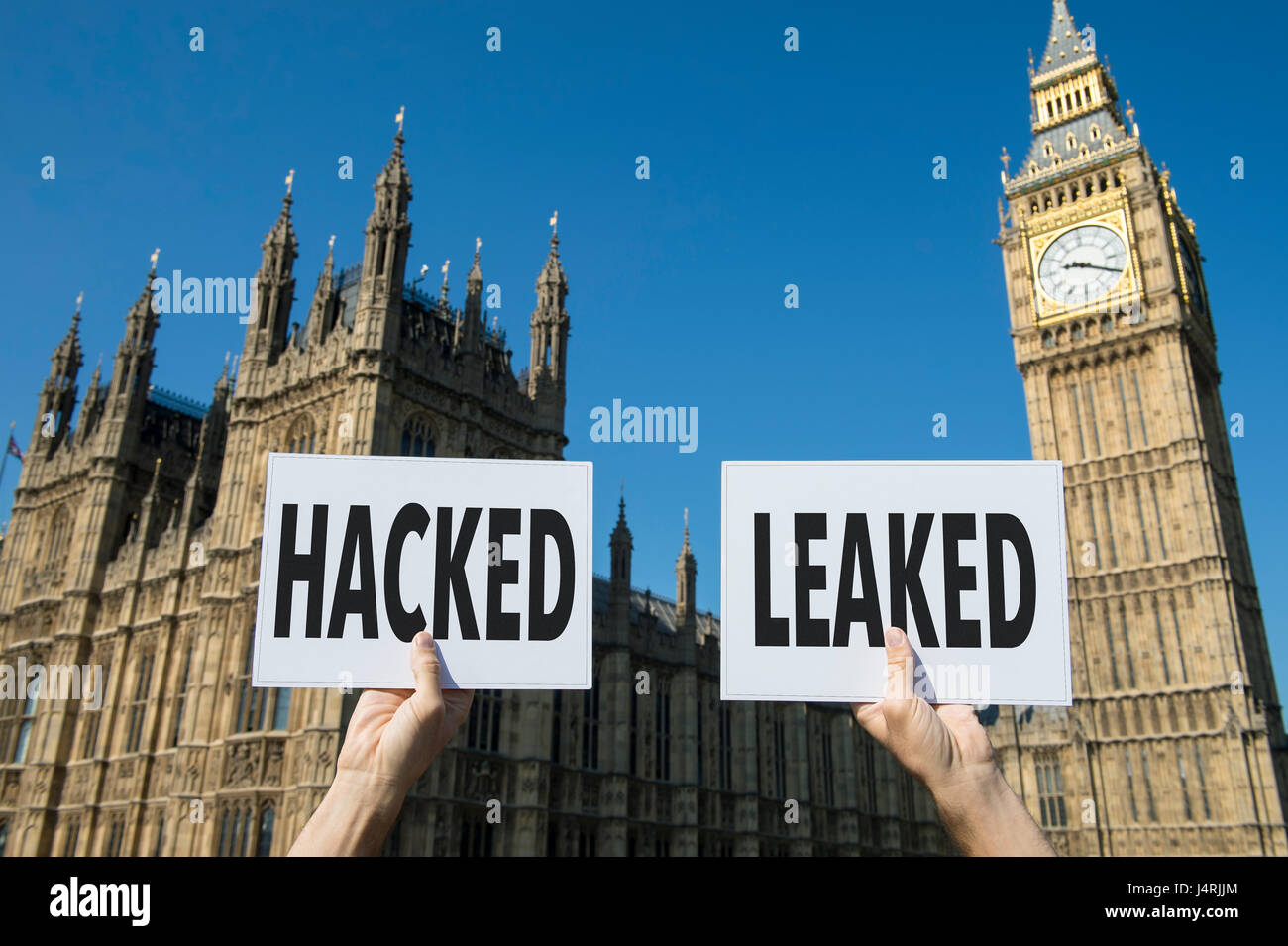 I segni che rappresentano problemi con elezioni moderno, l'hacking dei conti e la perdita di informazioni presso Immagini Stock