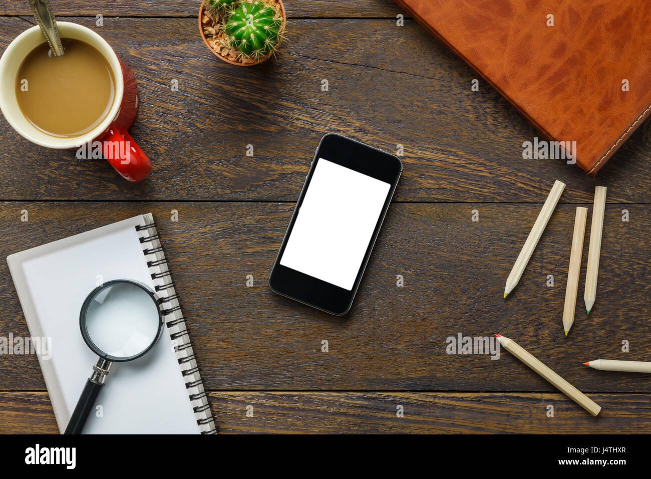 Top Visualizza Accessori Scrivania In Ufficio Il Telefono Mobile