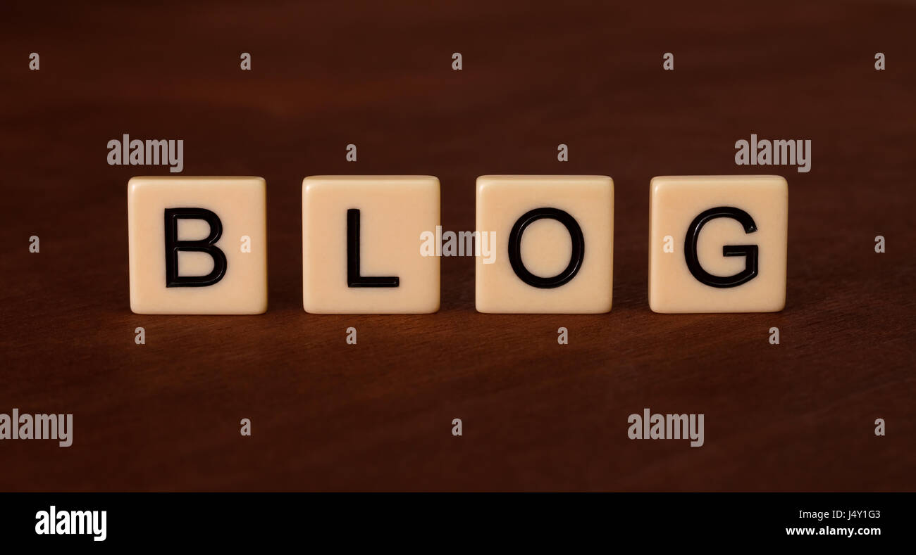 Blog personale headline. social networking concetto. piastrelle