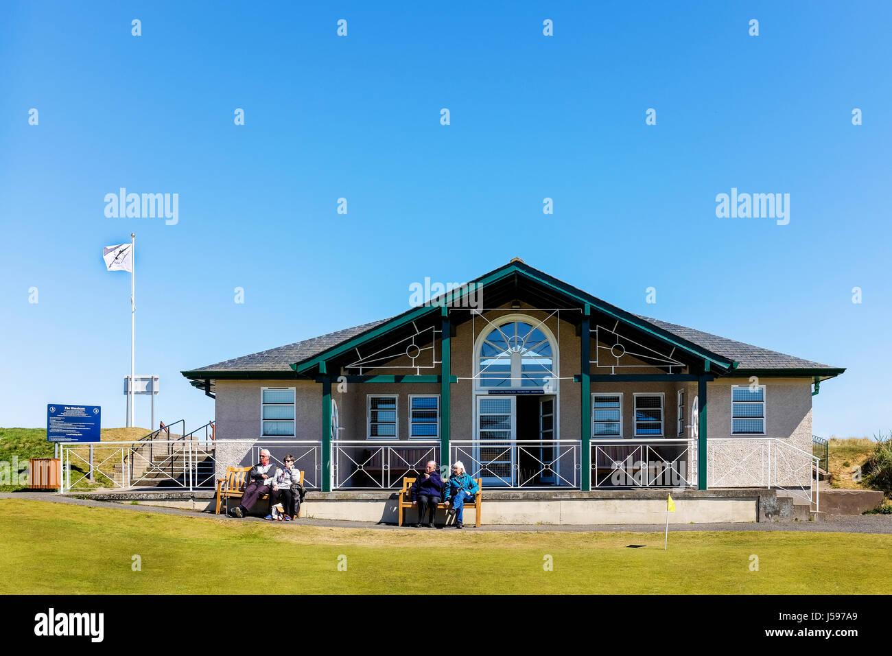 Clubhouse per St Andrews Ladies Putting Club, l'Himalaya Corso, St Andrews Fife, Scozia, Regno Unito Immagini Stock