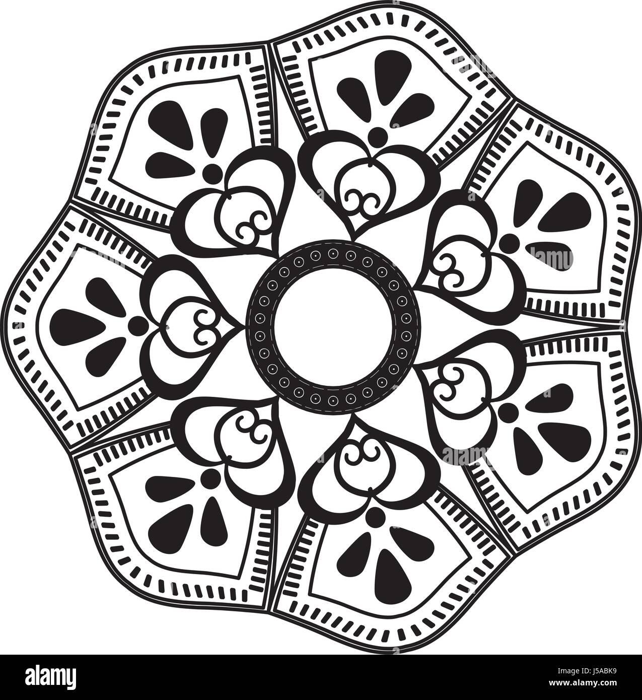Prosperare mandala decorazione vintage per la verniciatura Immagini Stock