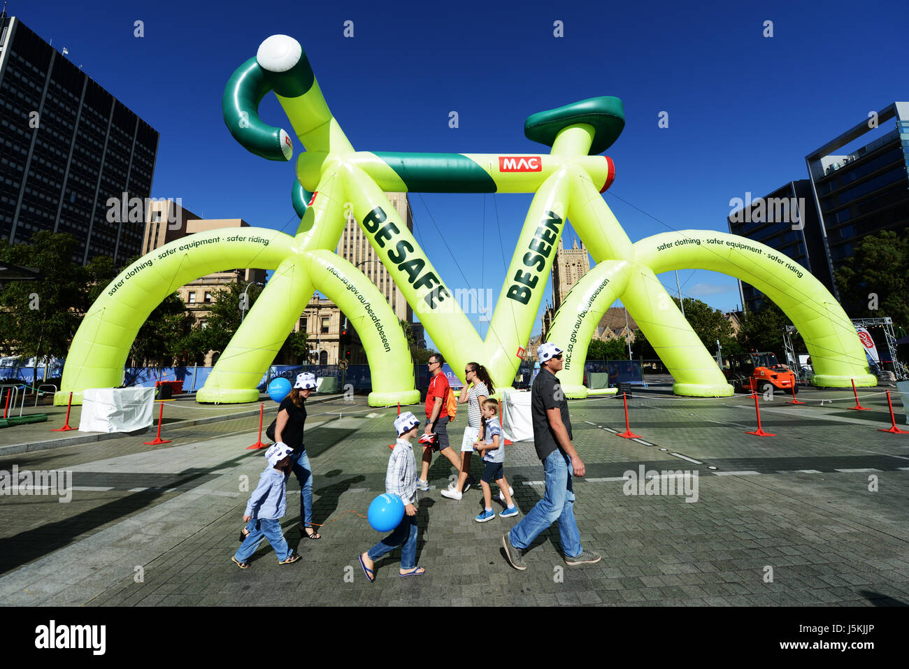 Festività ed eventi durante il Tour Down Under in Adelaide, Australia. Immagini Stock