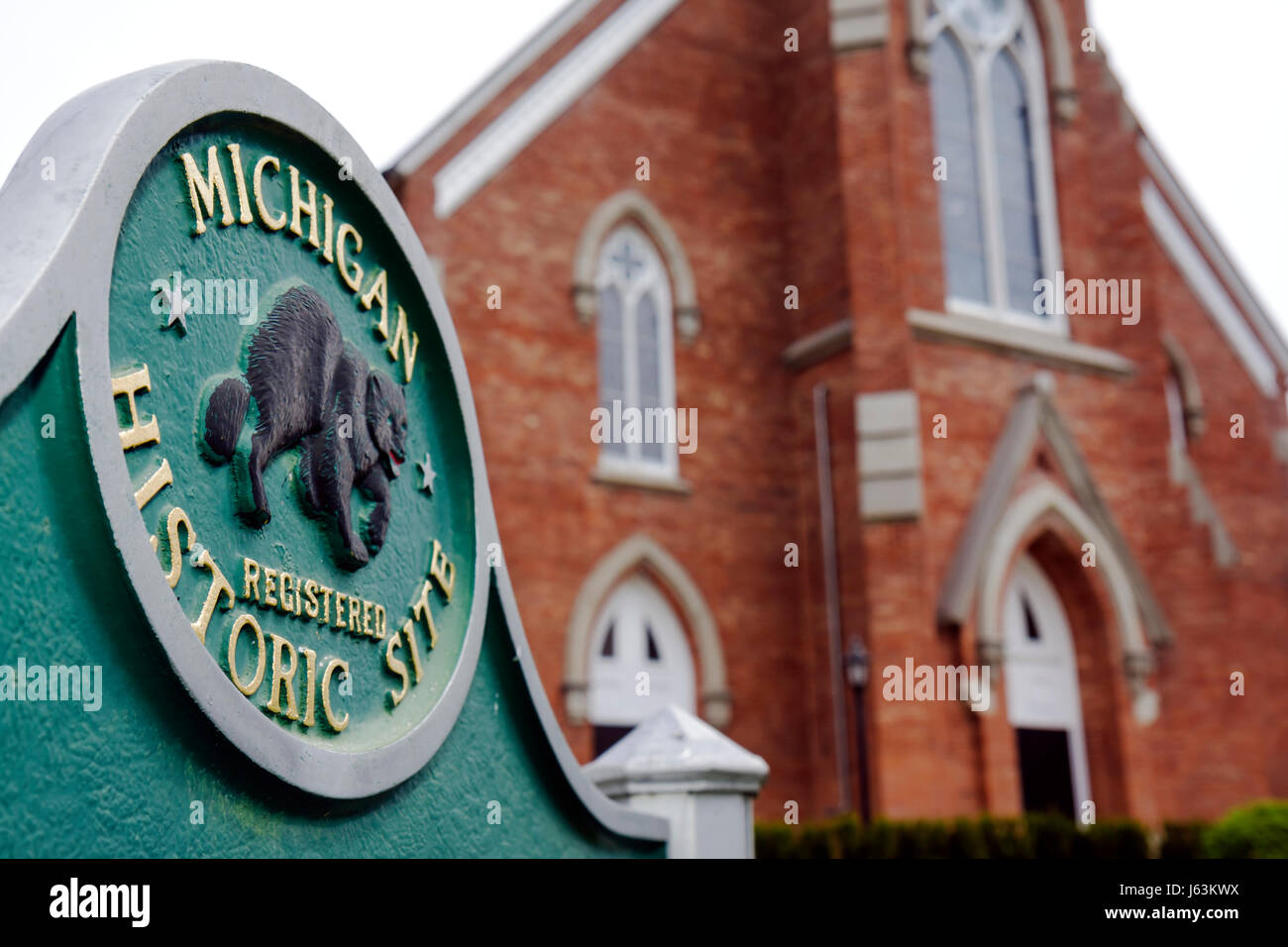 Michigan Frankenmuth Chiesa evangelica luterana di San San Lorenzo sito storico di religione il Cristianesimo edificio Immagini Stock