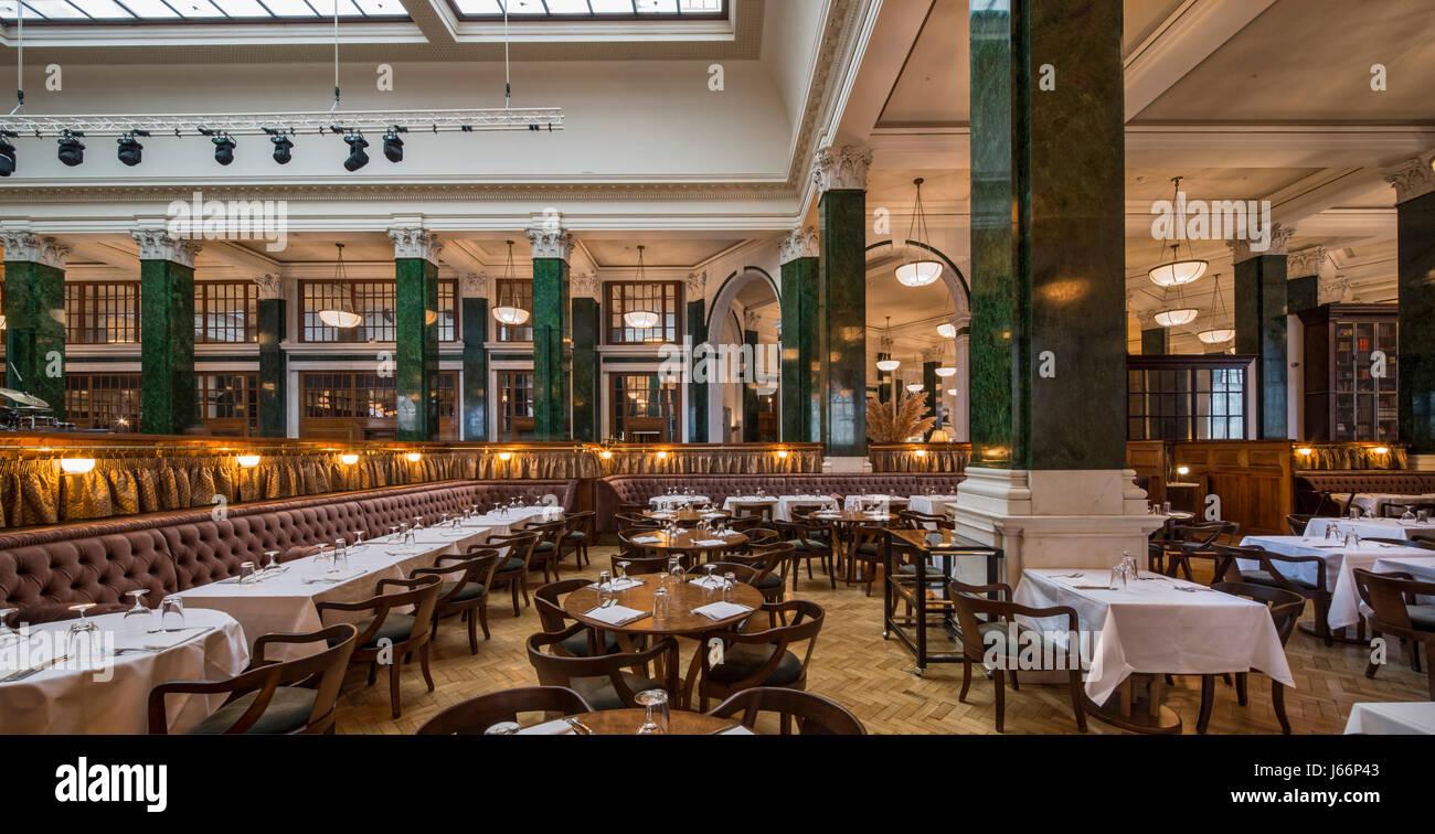 Ristoranti e bar nella vecchia banking hall il ned hotel for Design hotel londra