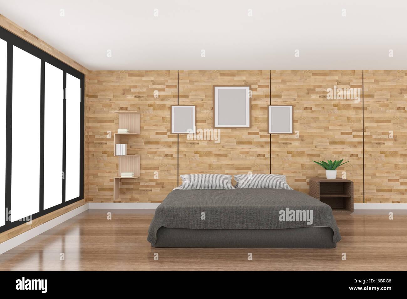 3d render spacious black white immagini 3d render spacious black white fotos stock alamy - Progettare la camera da letto ...