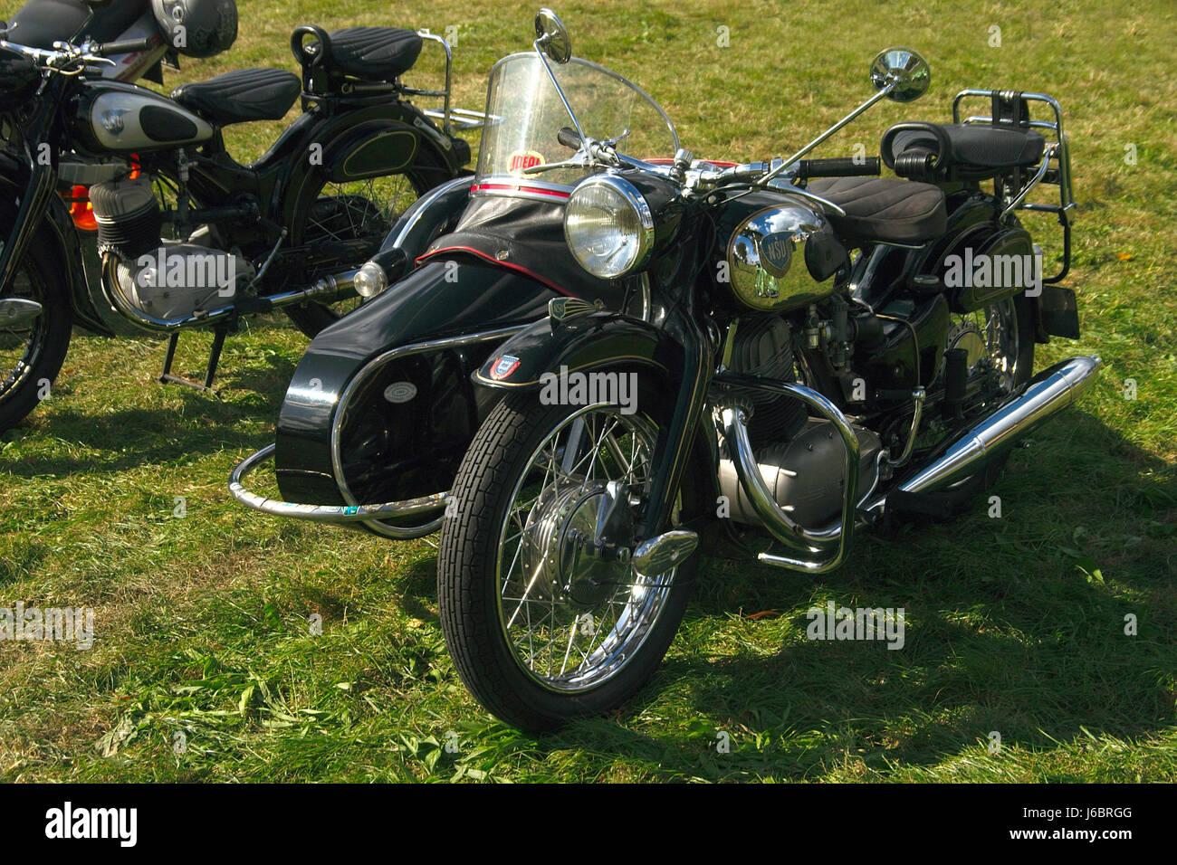 Old-timer marca motociclo moto rigido nostalgia storico veicolo Immagini Stock