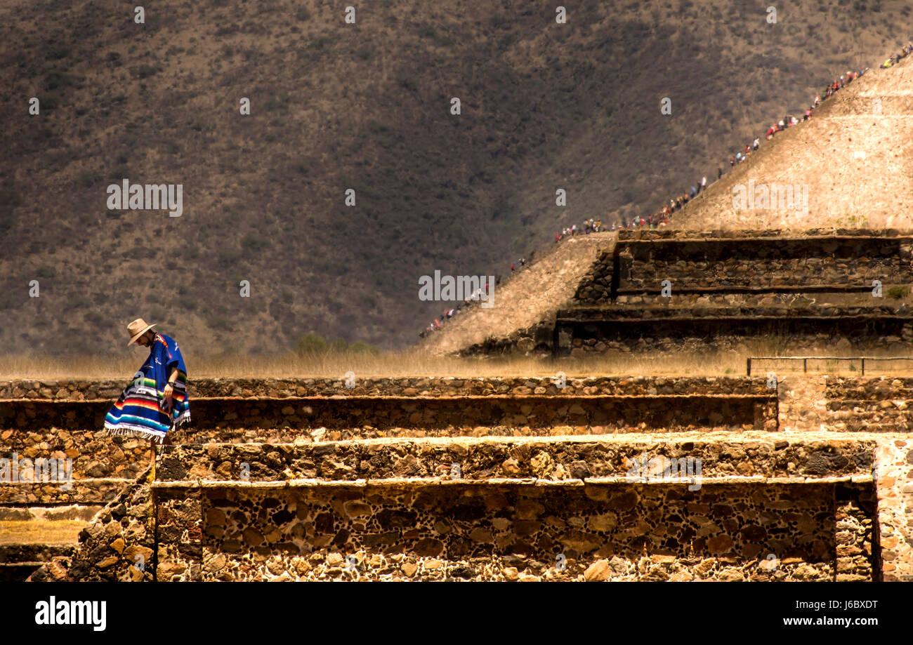 Teotihuacan sito. Città del Messico Immagini Stock