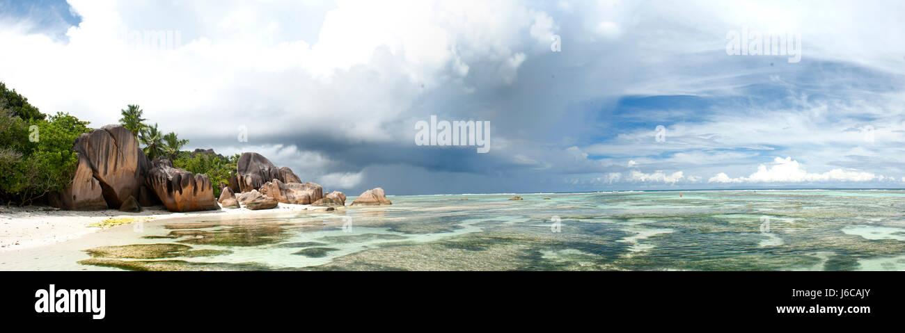 Avvicinando la tempesta, isola tropicale,Seychelles Immagini Stock