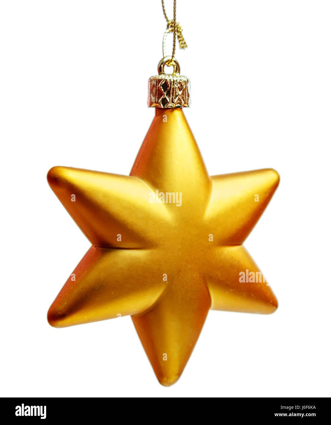 Stella Di Natale A 6 Punte.Oro Stella A Sei Punte Decorazione Di Natale Per Haging Su Albero