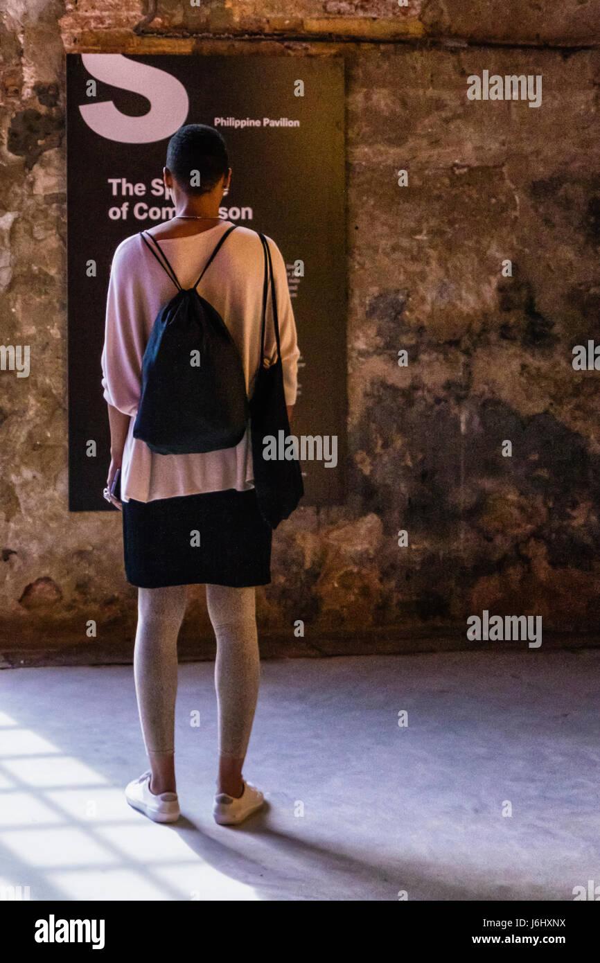 """Venezia, Castello,Arsenale. 57ma Biennale di Venezia 2017,La Biennale di Venezia.Philippine Pavilion,Artwork """"lo Immagini Stock"""