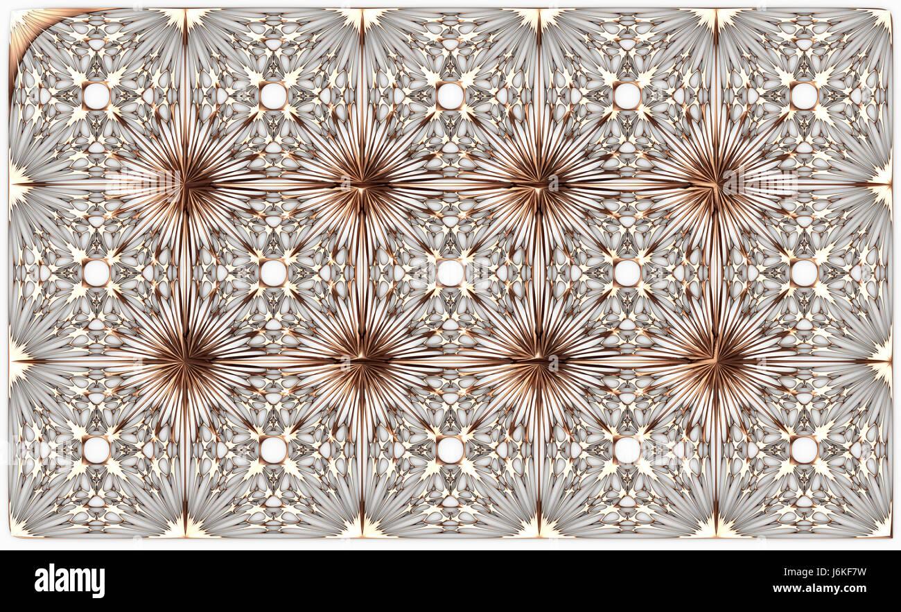 Modanature in oro piastrelle su uno sfondo bianco abstrack