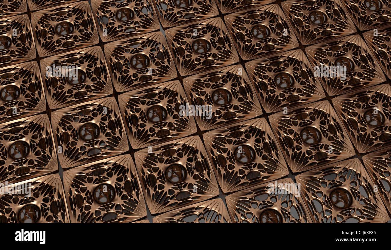 Modanature in oro piastrelle sul pannello di legno modello di