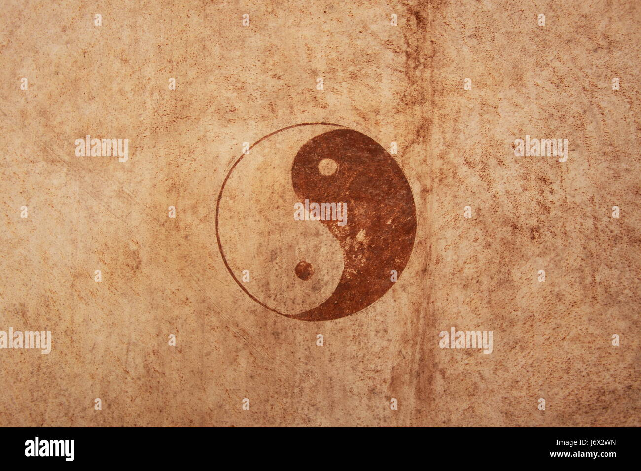 Ying yang sing Immagini Stock