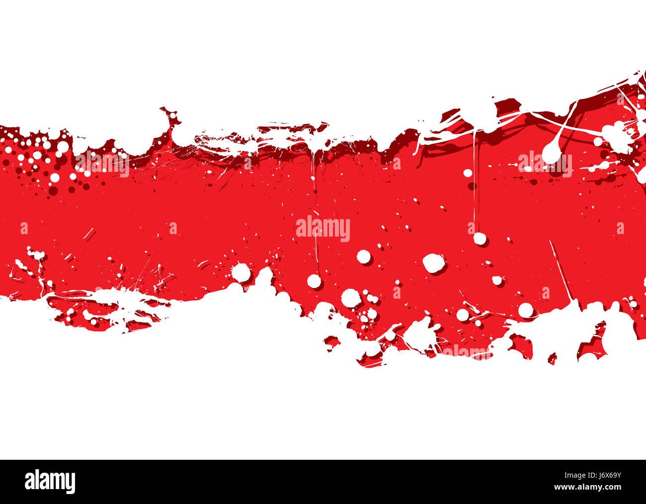 Banner Macchia Astratta Sfondo Sfondo Bianco Rosso Isolato Il Design