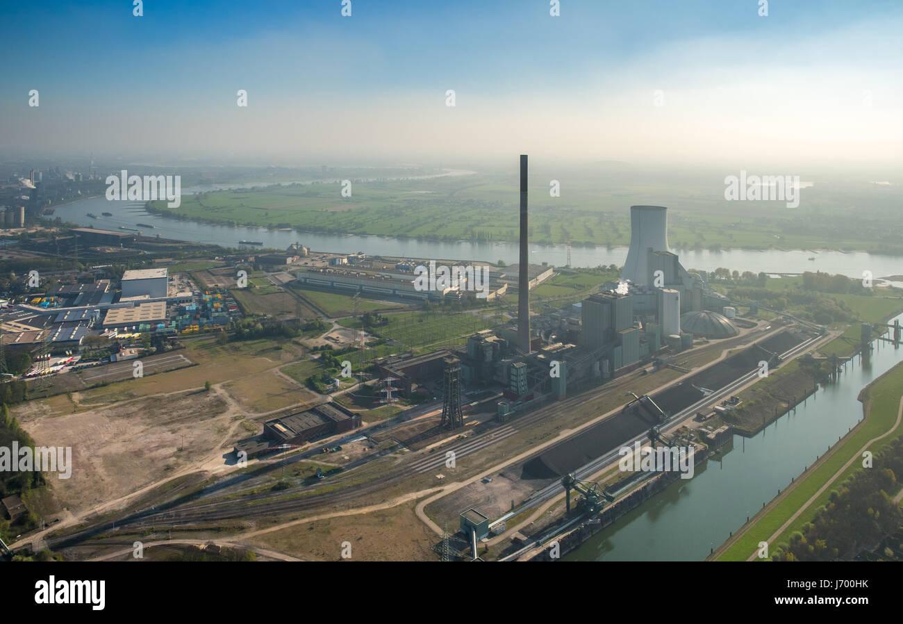 Ex miniera di carbone Walsum, impianto alimentato a carbone, combustibili fossili, power station Walsum, Reno, sul Immagini Stock