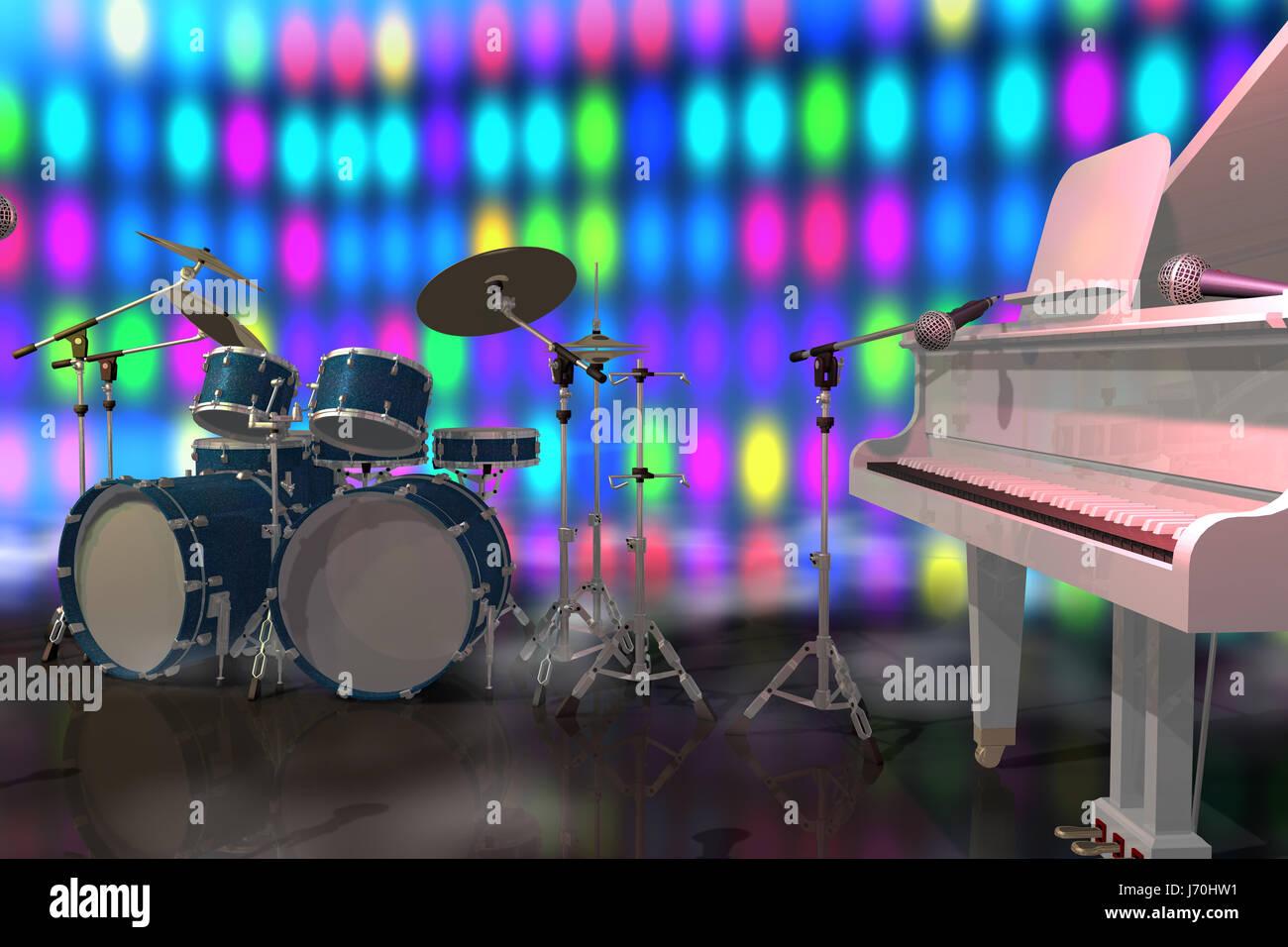 Musica per pianoforte illuminato apparecchiature di illuminazione