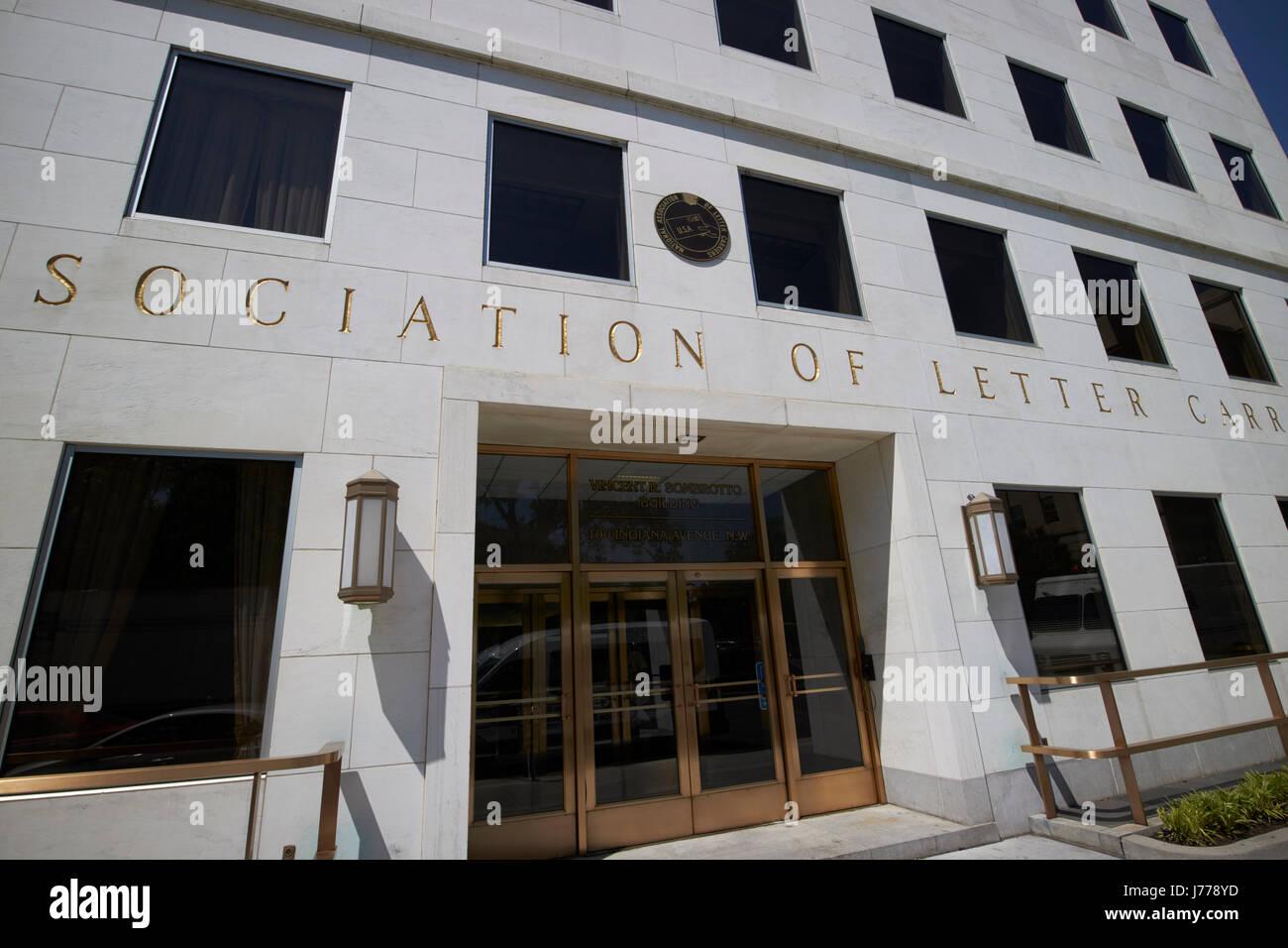 Associazione nazionale dei gestori lettera Washington DC USA Immagini Stock