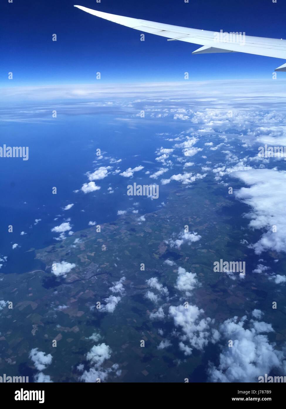 Aeromobile la visualizzazione della finestra. Foto Tony Gale Immagini Stock