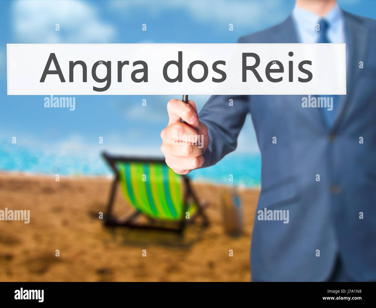 Angra dos Reis - Business man mostra segno. Business, tecnologia internet concetto. Stock Photo Immagini Stock