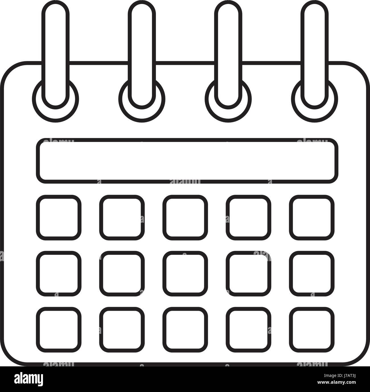 Simbolo Calendario.La Linea Del Calendario Icona Simbolo Di Design