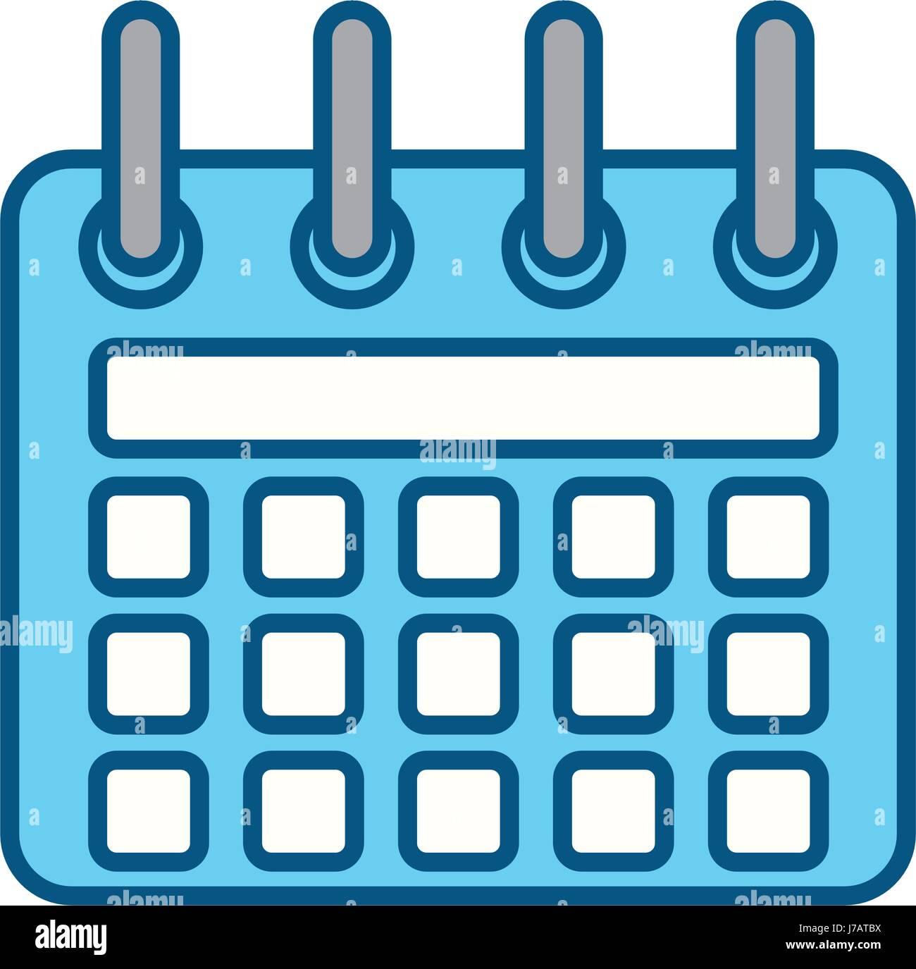 Simbolo De Calendario.Silhouette Calendario Icona Simbolo Di Design Illustrazione