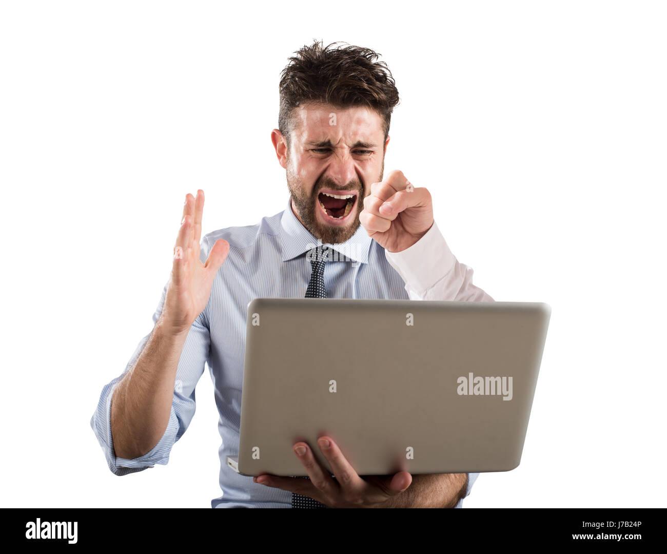 Cyber bullismo Immagini Stock