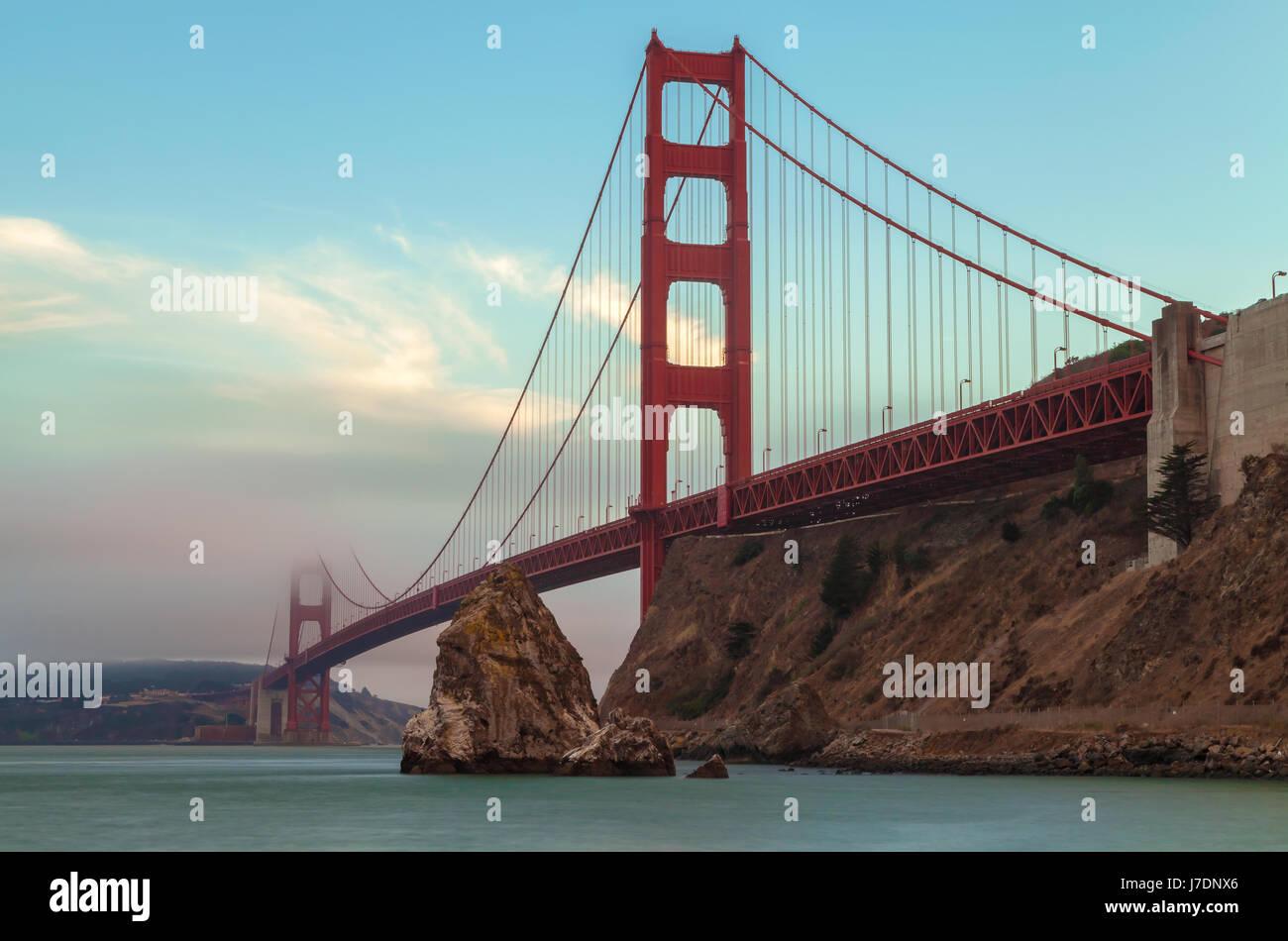 Il Golden Gate Bridge di San Francisco, California Immagini Stock