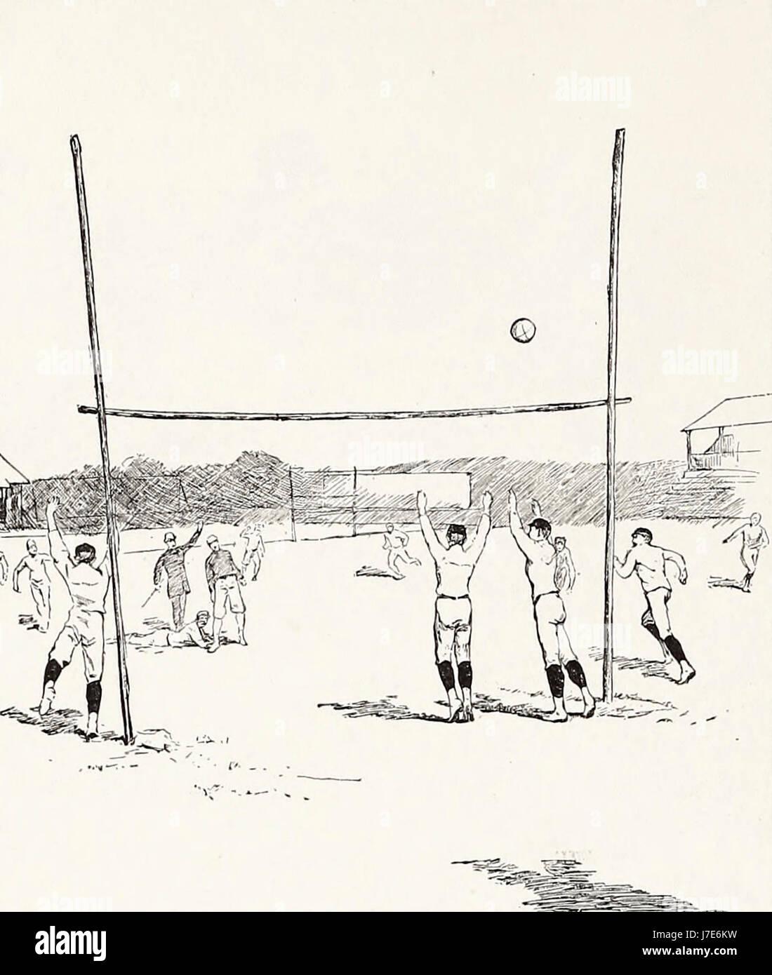Un Field Goal - Football americano, 1887 Immagini Stock