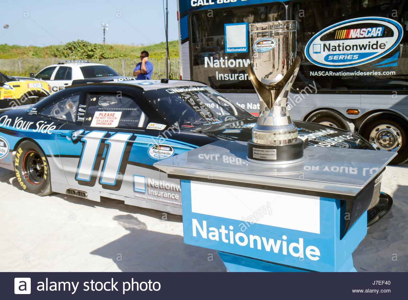 Miami Beach Florida Lummus Park campionato NASCAR unità gara evento festival della ventola di serie della tazza Immagini Stock