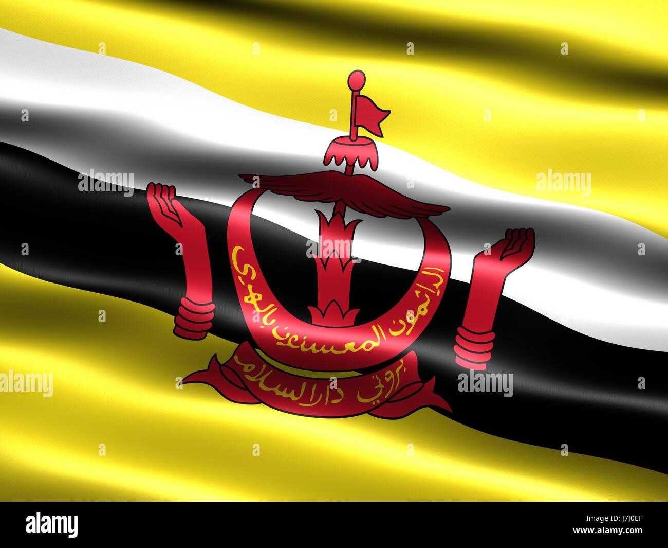 Bandiera banner paese nazione pittogramma pittogramma simbolo commercio vento Immagini Stock