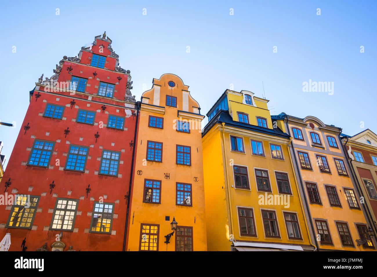 Stoccolma, Svezia - 4 Maggio 2017: Gamla Stan, la Città Vecchia, è uno dei più grandi e meglio conservate città medievali centri in Europa e uno dei fo Foto Stock