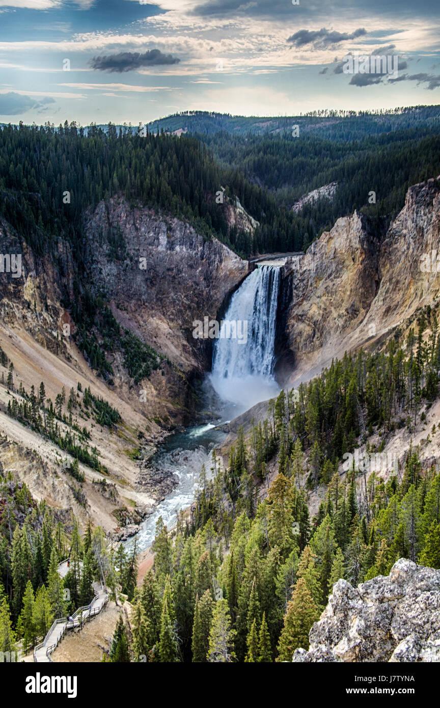 Yellowstone rientra nel Parco Nazionale di Yellowstone Immagini Stock
