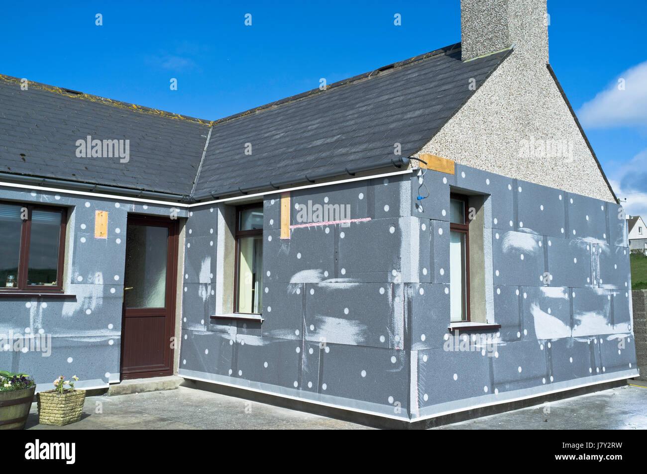 Parete di isolamento edificio riscaldamento Casa isolamento uk esterna parete isolante termico muri esterni al di Immagini Stock