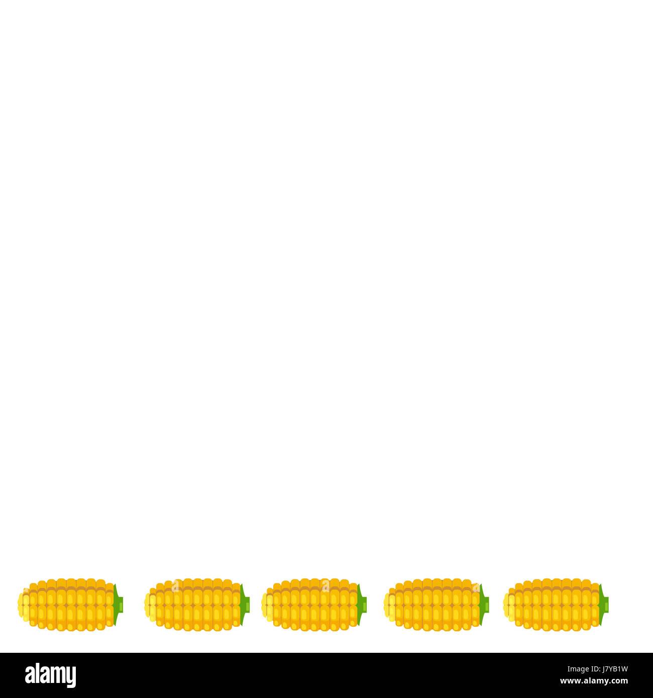 Una illustrazione di calli poste sul fondo su sfondo bianco Immagini Stock