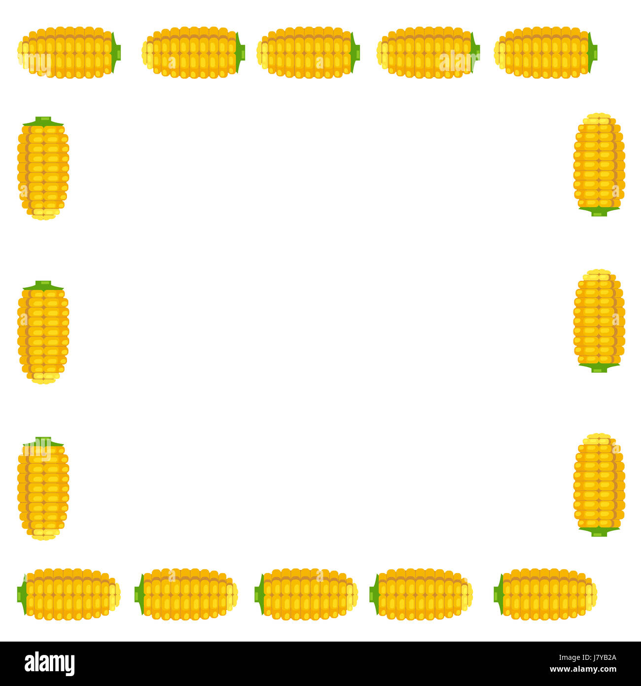 Una illustrazione di calli collocati su tutti i lati su sfondo bianco Immagini Stock