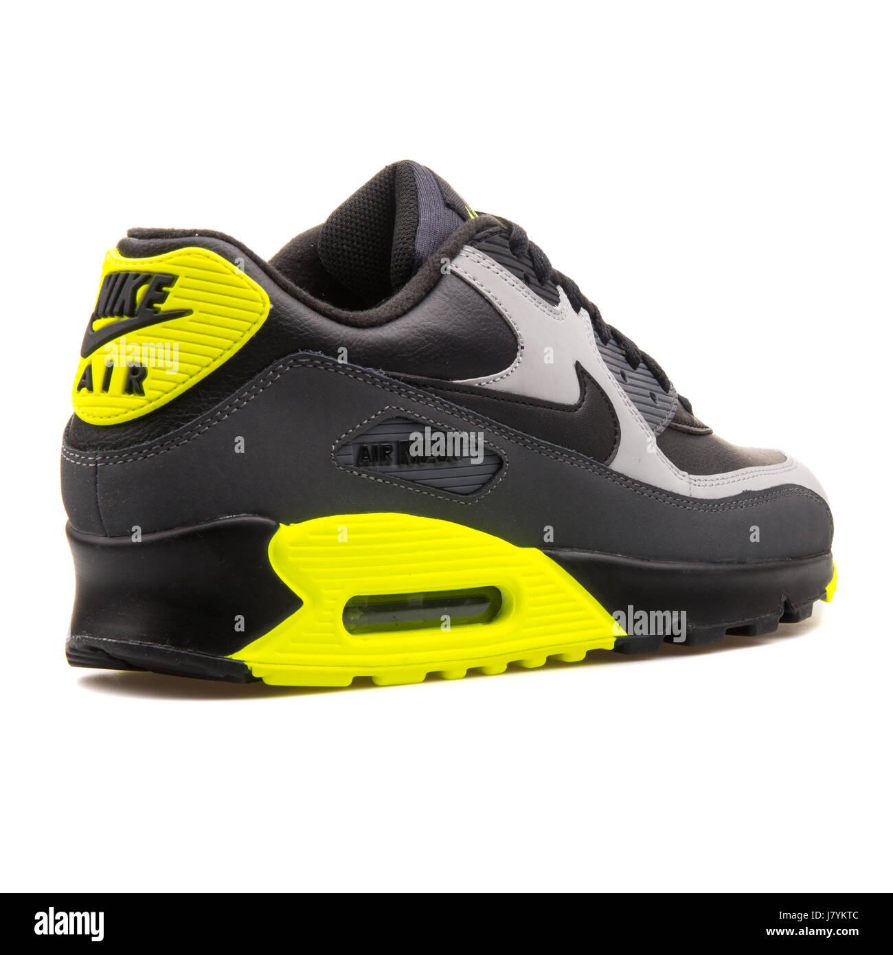 cheap for discount f81c0 ec914 Nike Air Max 90 LTR grigio nero e giallo uomini Sport Sneakers - 652980-007