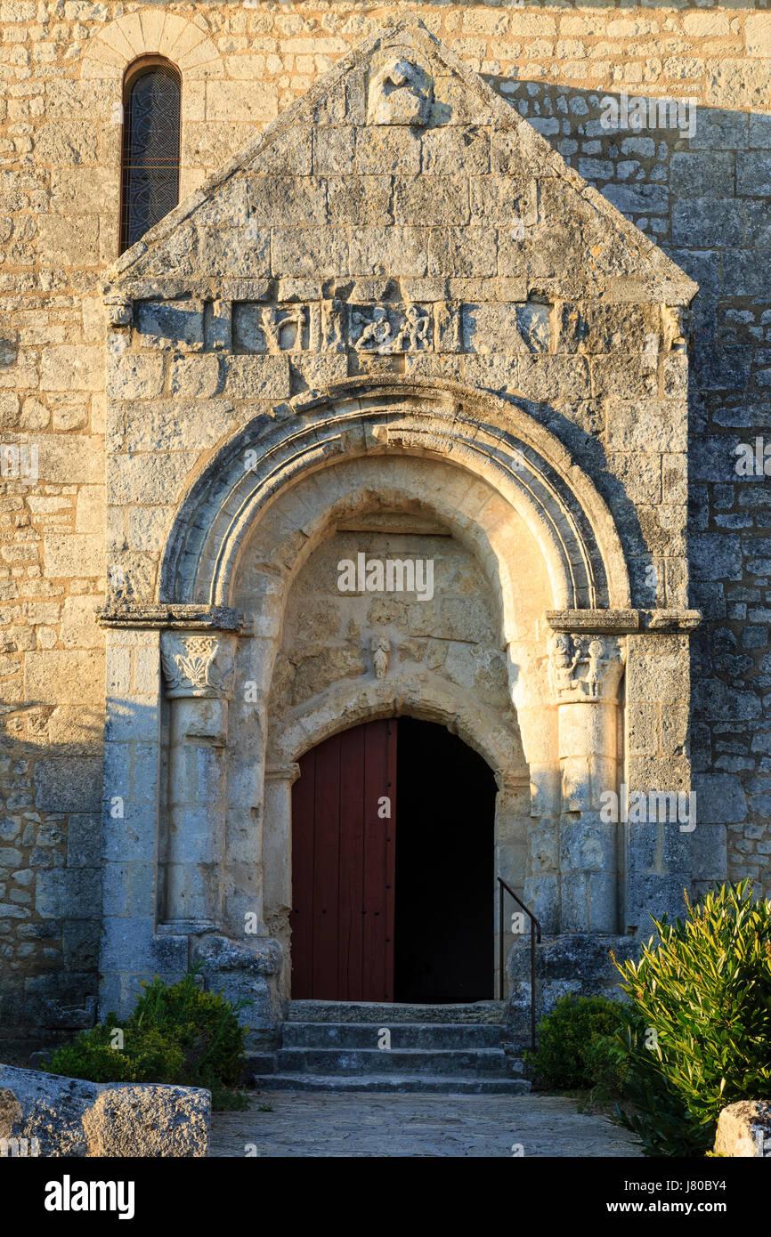 Francia, Gironde, montagne, frazione de saint georges de montagne, chiesa Foto Stock
