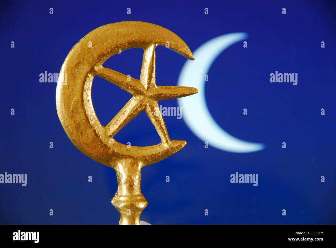 La mezzaluna e la stella che divenne collegato con l islam nella