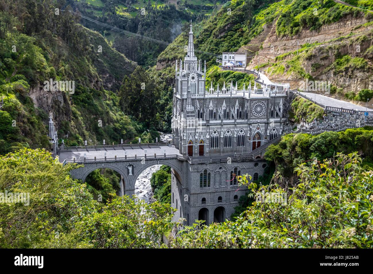 Las Lajas Santuario - Ipiales, Colombia Immagini Stock