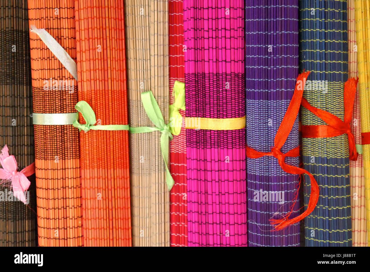 Tabella stuoie in vendita a Siem Reap, Cambogia Immagini Stock