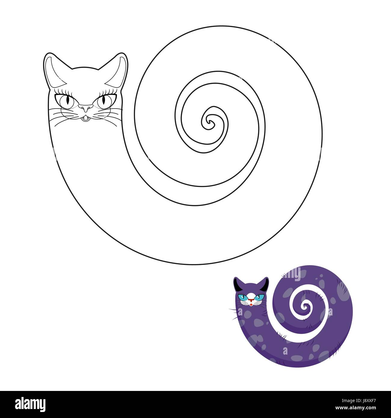 Razze Di Gatti Cat Snake Libro Da Colorare Favoloso Gatto Pet Con