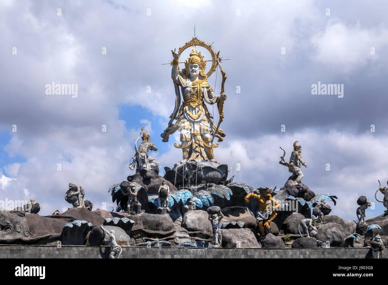 Titi Banda monumento, Denpasar, Bali, Indonesia, Asia Immagini Stock