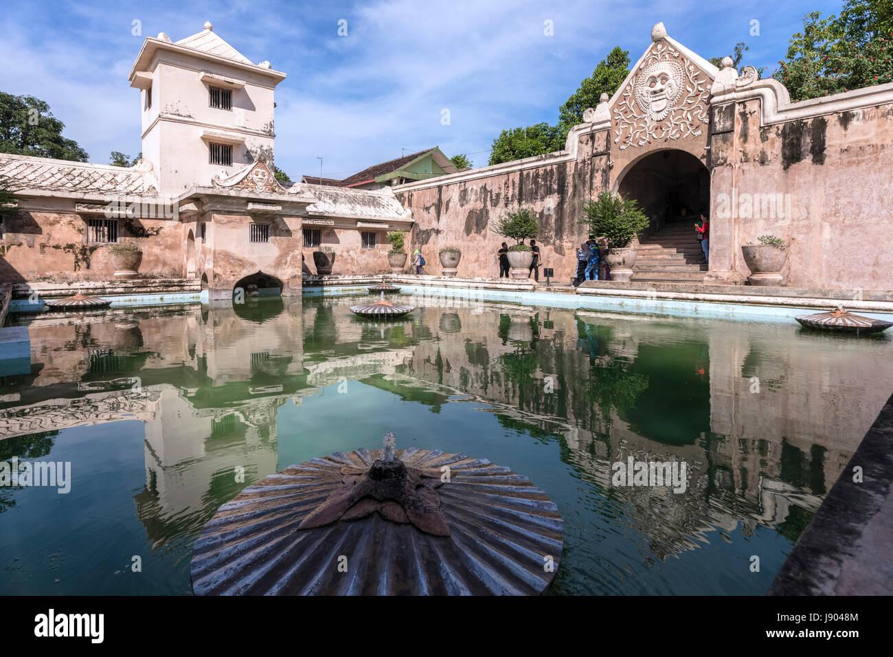 Taman Sari, acqua Palace, Yogyakarta, Java, Indonesia, Asia Immagini Stock