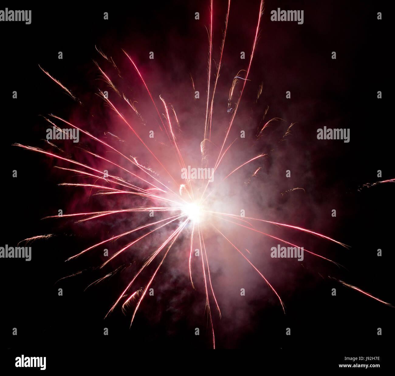 Esposizione a lungo termine, Silvester, Capodanno, anno nuovo, rucola, saluti Foto Stock