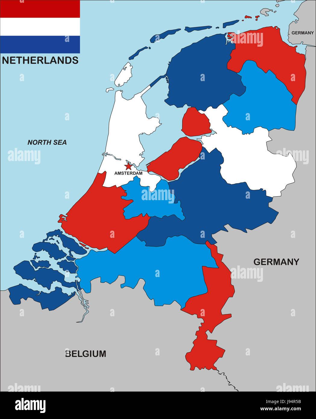Cartina Olanda Politica.Viaggiare Politico Olanda Bandiera Paesi Bassi Amsterdam Paese Globe Foto Stock Alamy