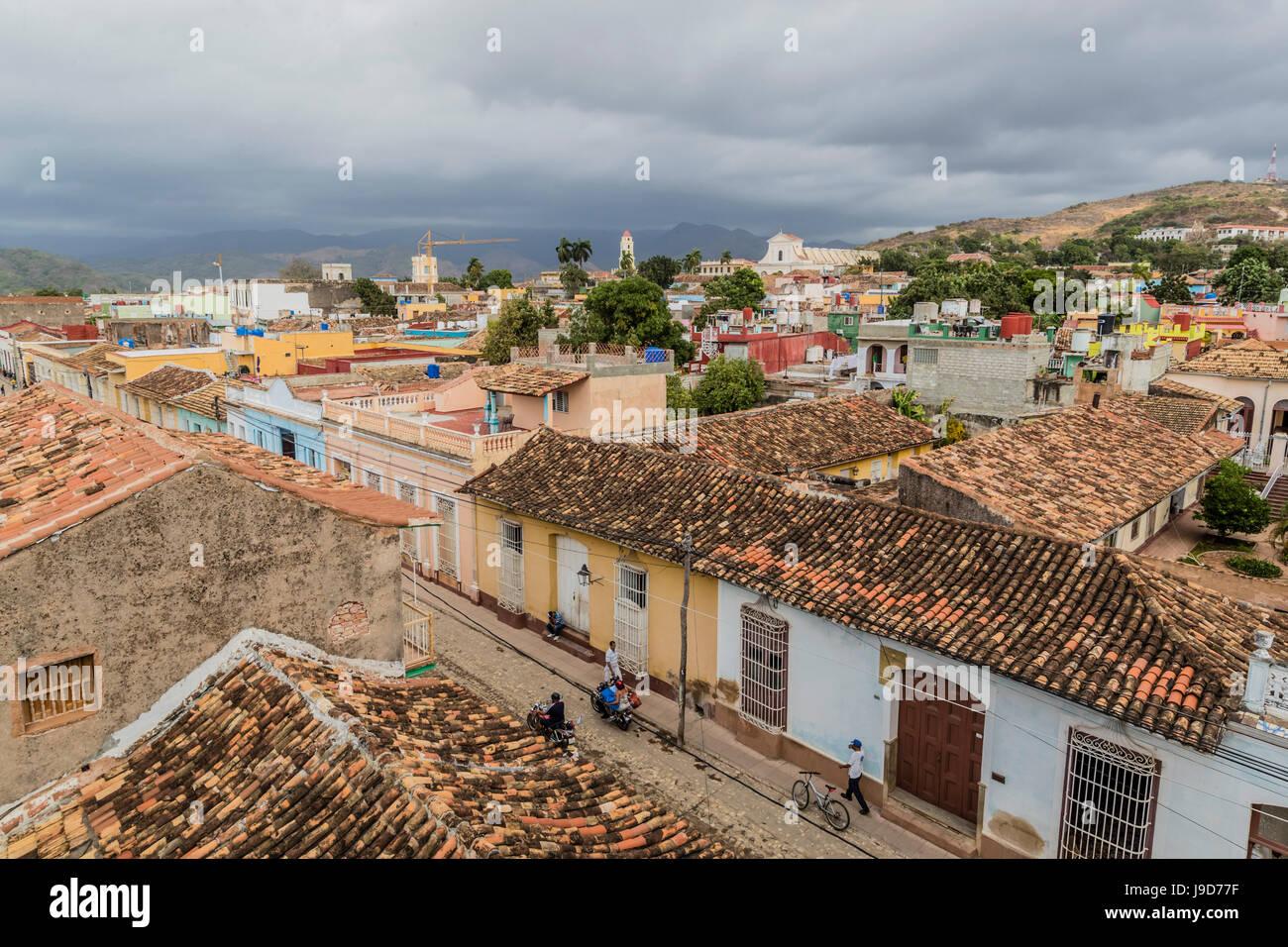 Una vista di Plaza Mayor, Trinidad, Sito Patrimonio Mondiale dell'UNESCO, Cuba, West Indies, dei Caraibi e America Immagini Stock