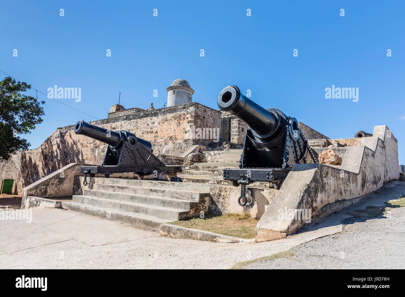 Il Castillo de Jagua fort, eretta nel 1742 dal re Filippo V di Spagna, vicino a Cienfuegos, Cuba, West Indies, dei Immagini Stock