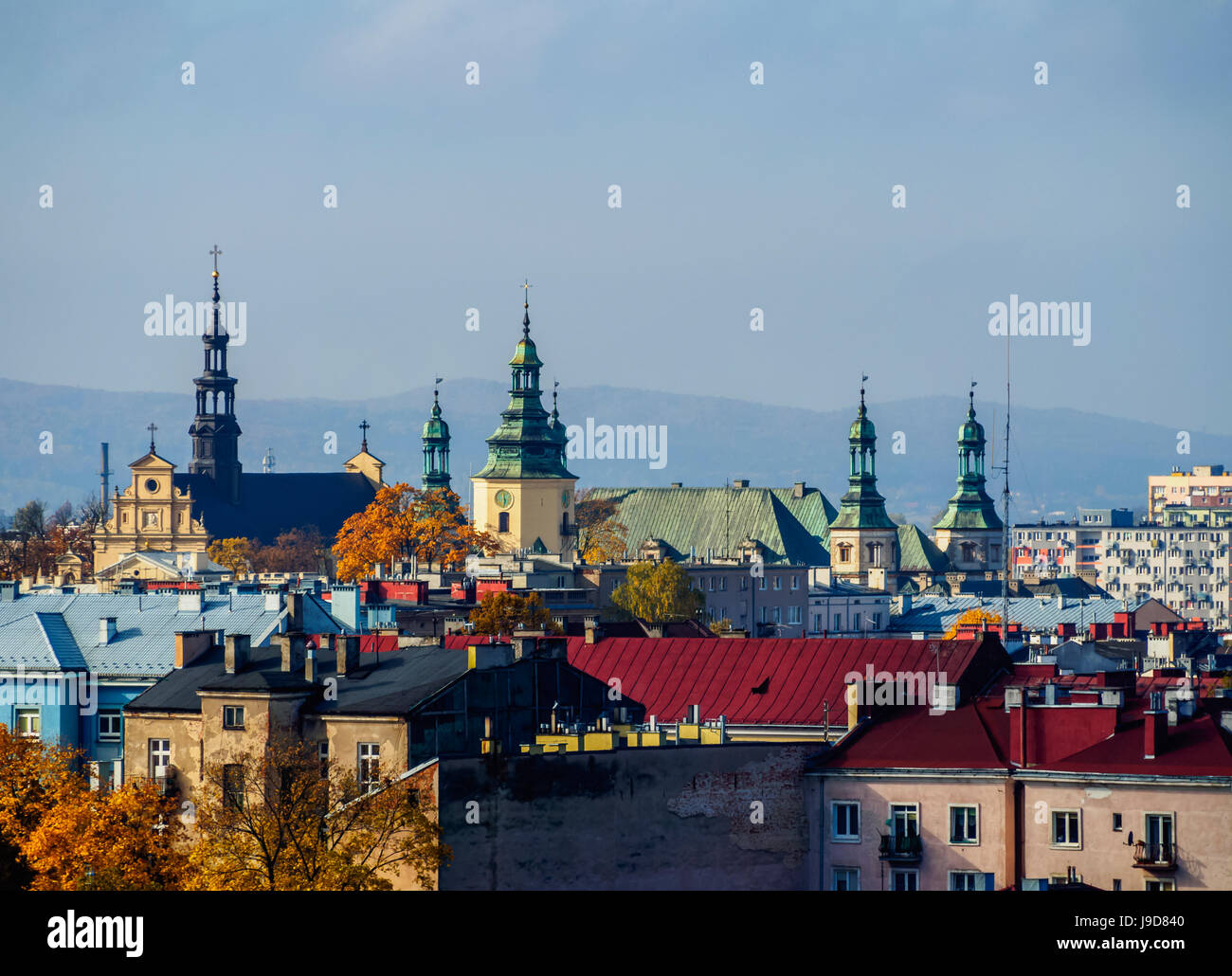 Cityscape, Kielce, Swietokrzyskie voivodato, Polonia, Europa Immagini Stock